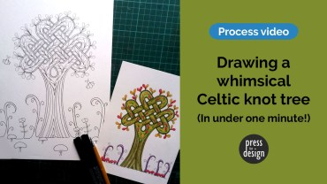 Project Process: Drawing a whimsical Celtic knot tree