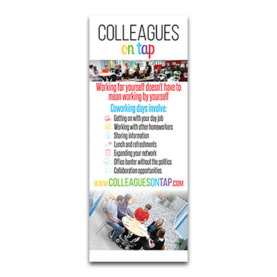 Colleagues on Tap banner stand