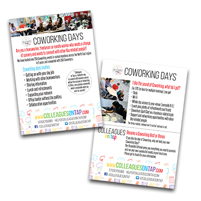 Colleagues on Tap leaflets
