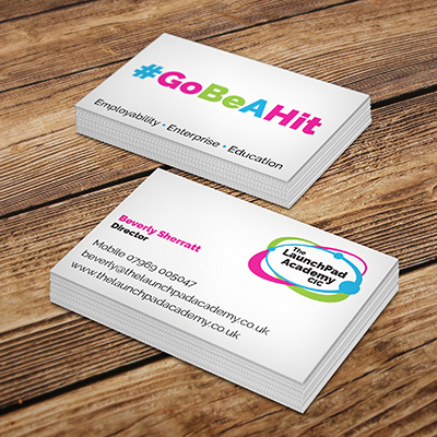 LaunchPad Academy business card design