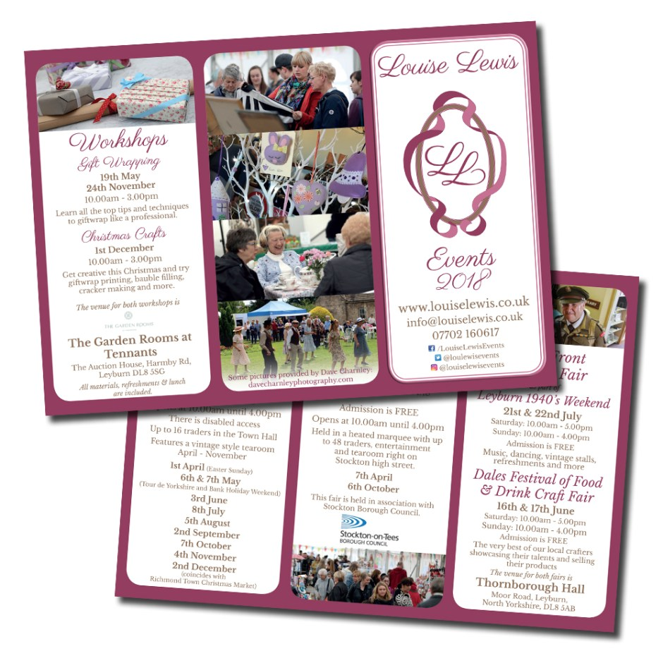 Louise Lewis A4 folded leaflet design and layout