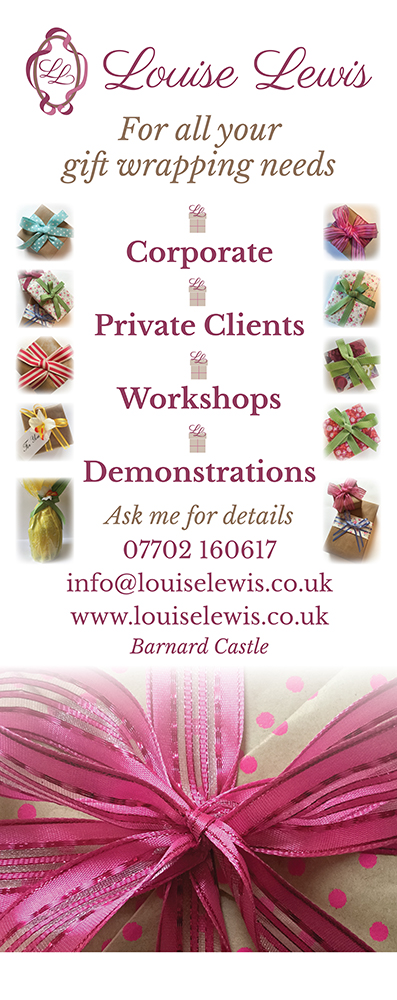 Louise Lewis banner stand design