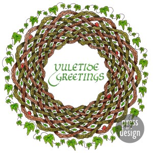 Yuletide Wreath illustration