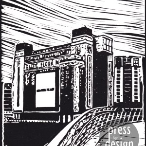 Baltic Mill lino print