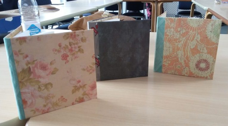 Hand made books by students