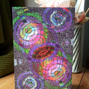 Disco Doodles greetings card
