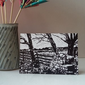 Step Over the Stile greetings card