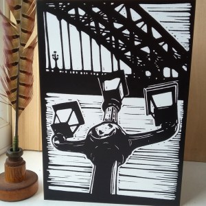 The Lamps of Tyne Bridge A5 greetings card