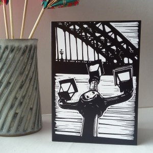 The Lamps of Tyne Bridge greetings card