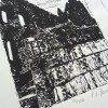 Whitby Abbey Detail lino print