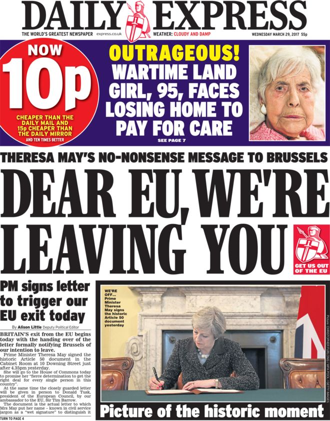 Image result for article 50 newspaper