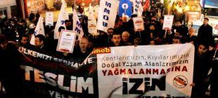 TMMOB yasasına karşı meşaleli yürüyüş!