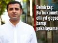 Demirtaş: 'Bu hükümetle elli yıl geçse barışı yakalayamayız!'