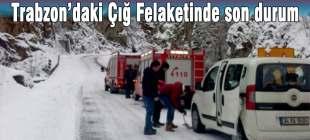 Trabzon'daki Çığ Felaketinde son durum