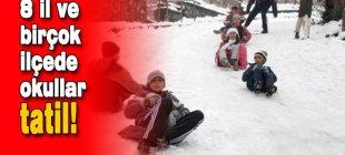 Perşembe günü okulların tatil olduğu iller 12.2.2015