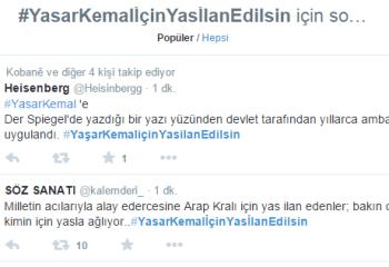 Twitter'da Yaşar Kemal için yas ilanı isteniyor
