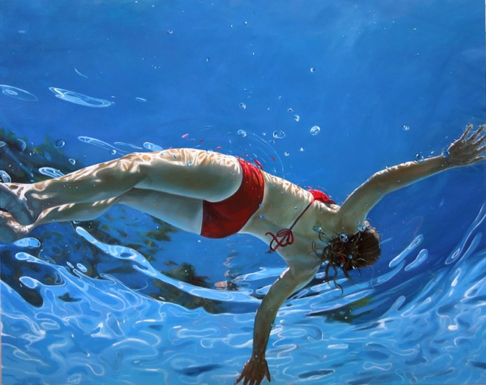 floating by, 48x60,2007