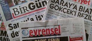 Cumhuriyet, Birgün ve Evrensel gazetelerine 1 milyon 400 bin liralık dava