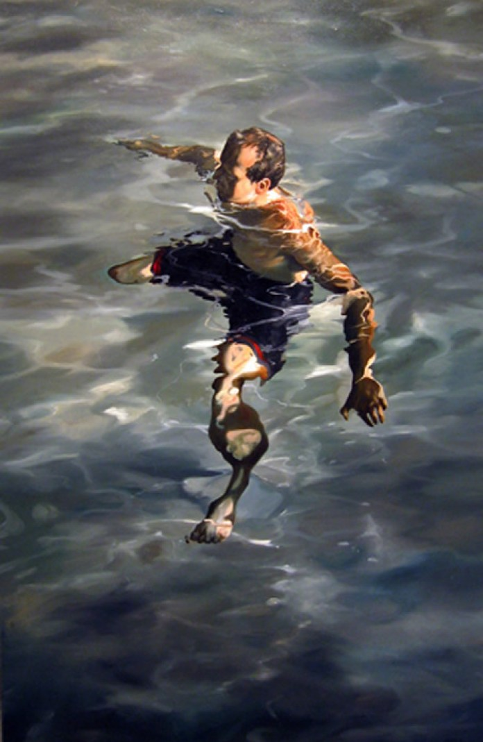 man treading water,57x37,2004,highres
