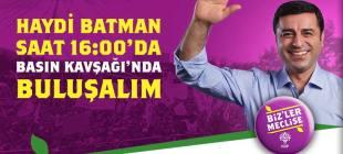 HDP Batman mitingi
