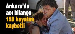 Ankara'daki patlamada ölü sayısı 128'e yükseldi