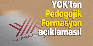 YÖK, Pedagojik Formasyon Sertifika Programları