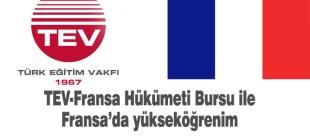 TEV-Fransa işbirliğiyle Fransa'da master bursu