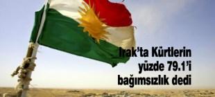 Irak'ta Kürtlerin yüzde 79.1'i bağımsızlık istiyor
