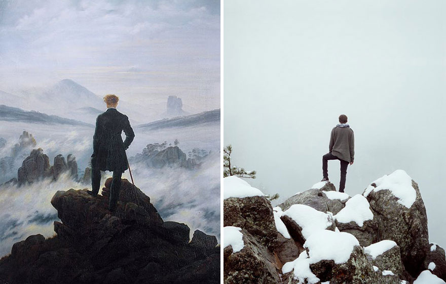 Caspar David Friedrich: Wanderer above the Sea of Fog / Fotoğraf: Spencer Harding