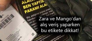 Zara ve Mango'daki bu etiketlere dikkat!