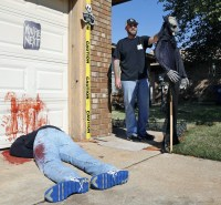 Homes gory Halloween display attracts attention ...