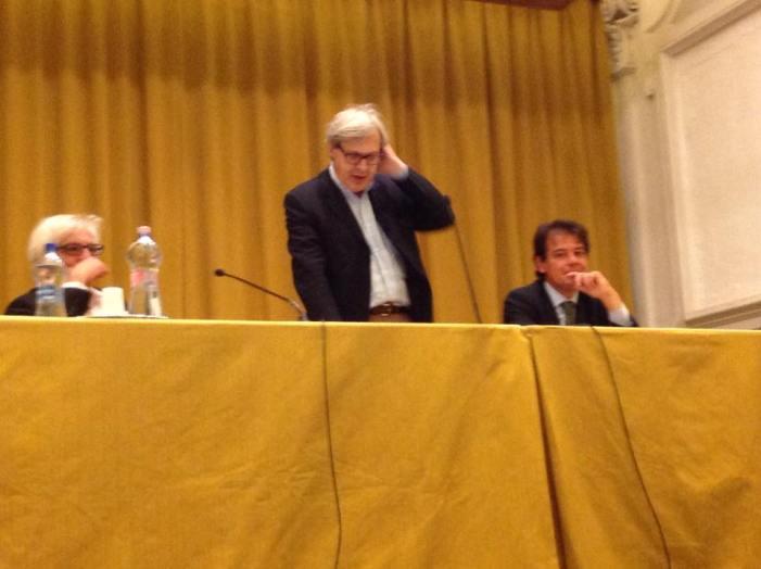 Sgarbi racconta Burri, come esempio per l'Umbria