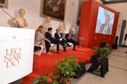 Tavola Rotonda (da sinistra): Monica Maggioni, Direttore di RaiNews24 (moderatrice);  Claudio Marenzi, Presidente Herno e Presidente sistema Moda Italia; Francesco Pugliese, AD Conad; Giandomenico Auricchio, AD Gennaro Auricchio