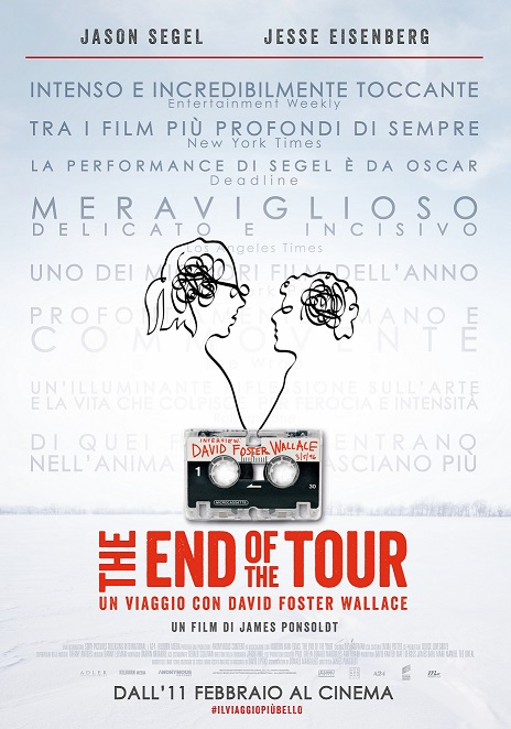 "In Sala il Trailer ufficiale italiano ""The End of the Tour"""