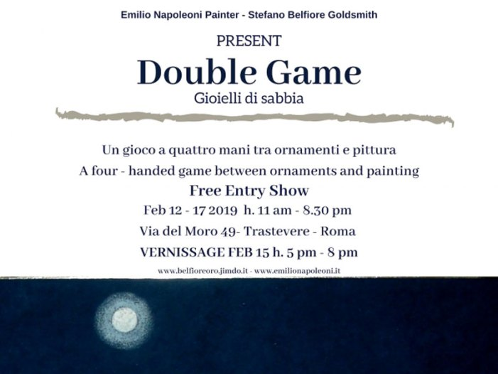 """Al via a Roma """"Double Game"""", la mostra tra ornamenti in oro e pittura"""