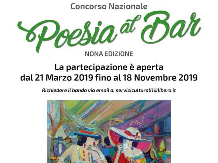 """Cultura: Al via la nona edizione del concorso """"Poesia al Bar"""""""