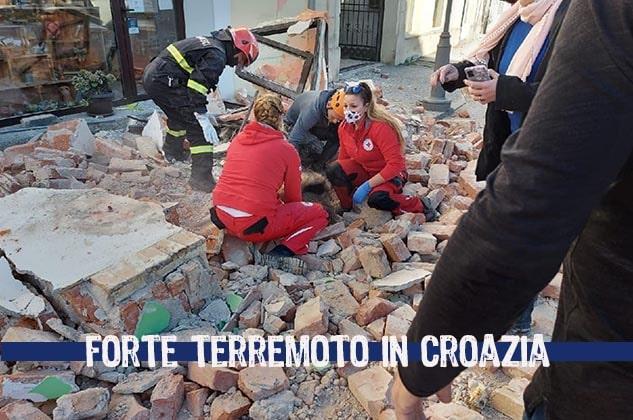 Un forte terremoto in Croazia: avvertito da Trieste a Napoli. Scossa di magnitudo 6.4: crolla un ospedale ed un asilo