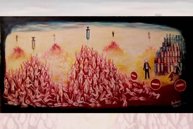 La giornalista Annalina Grasso, il poeta Vincenzo Calì e l'attore Maurizio Bianucci accompagnano con un video di successo la mostra collettiva surrealista più grande al mondo organizzata da Santiago Ribeiro in Portogallo fino all'11 luglio