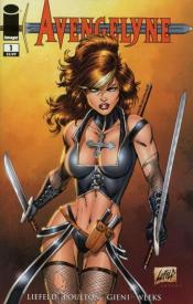 Avengelyne #1 Cover illustrated by Rob Liefeld