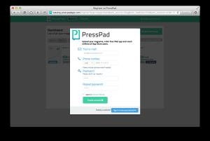 Presspad Registration