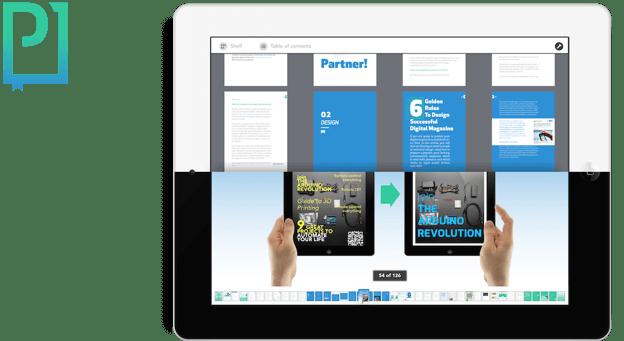 Dynamic PDF for digital magazine