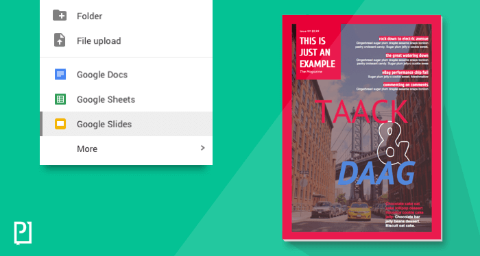 Magazine Design with Google Slides