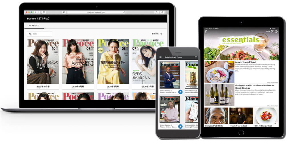 digital newsstand and mobile apps