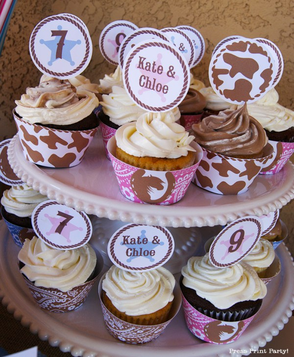 Western-Party-cupcakes