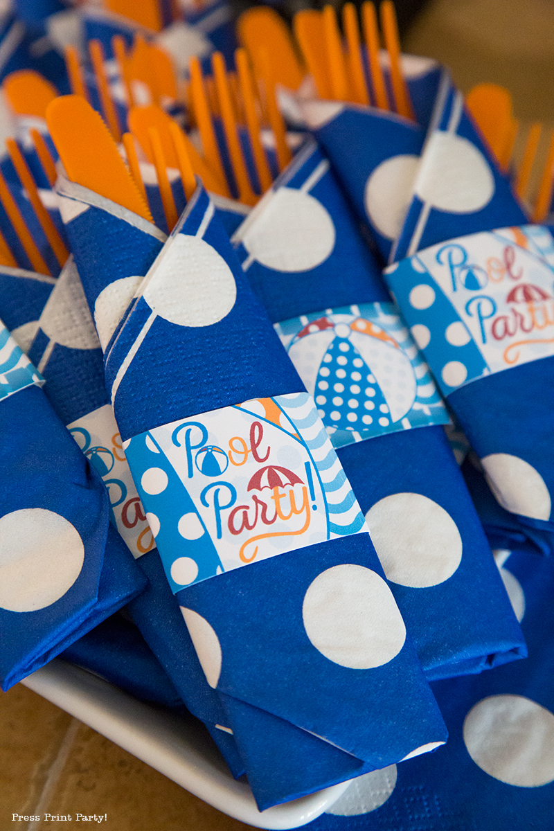 Pool Party Beach Ball Birthday Bash - Ideas and decorations by Press Print Party!