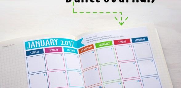 Free 2017 Calendar for Bullet Journals Printable