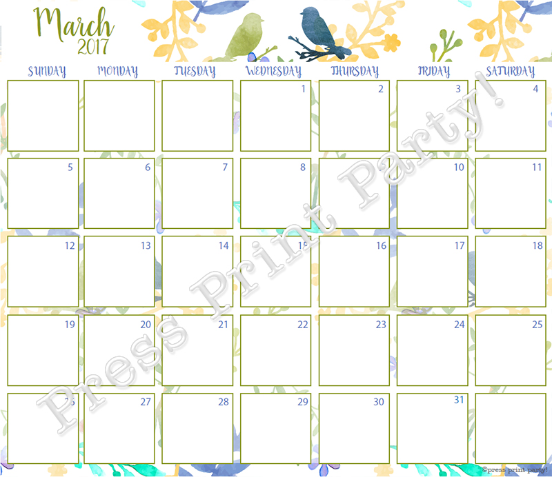 Design Calendar Journal : Calendar printable for bullet journals watercolor