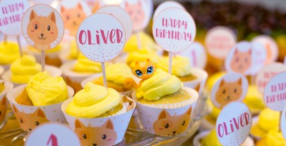 Oliver's Adorable Tabby Cat Party