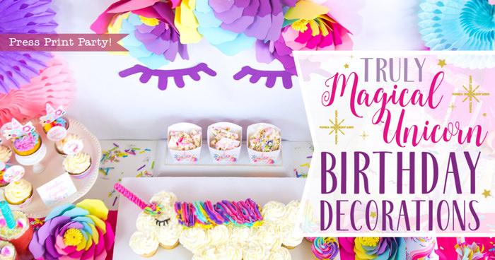 truly magical unicorn birthday