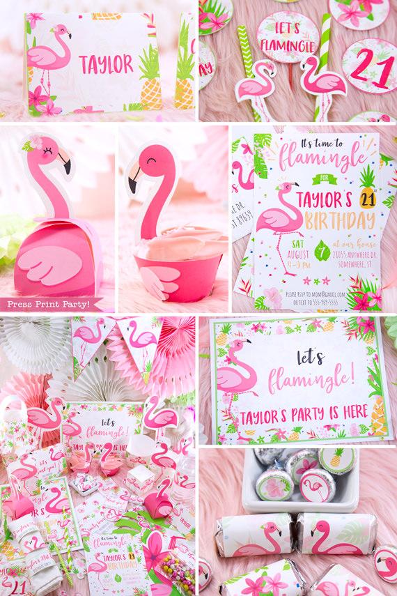 Flamingo Party Printable Bundle Lets Flamingle Press